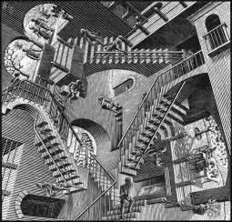 Maurits Cornelis Escher Escalier by Il Tesoro Di Siena Escher Senese