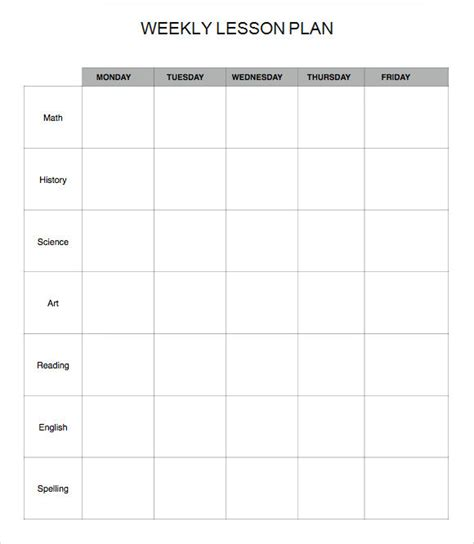 weekly lesson plan template pdf weekly lesson plan template word business letter template