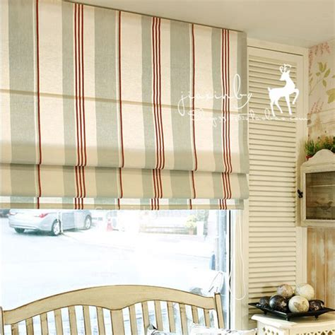 country style curtains in striped lines for sale