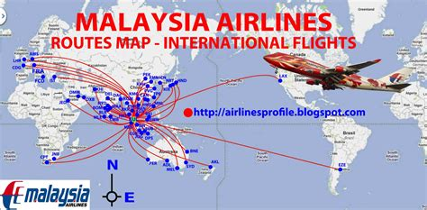 routes map malaysia airlines routes map