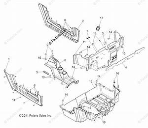 Polaris Side By Side 2013 Oem Parts Diagram For Body