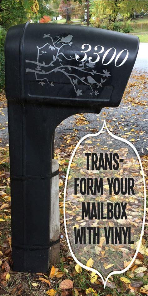plastic mailbox makeover  vinyl decal atcrlylynn vinyl   pinterest mailbox