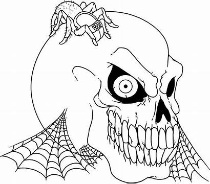Halloween Coloring Pages Scary Monster Printables Skulls