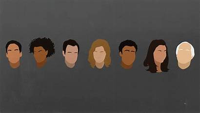 Community Tv Faces Minimalist Themed Wallpapers Shows