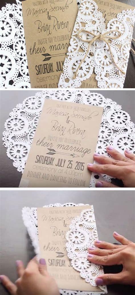 19 Easy To Make Wedding Invitation Ideas