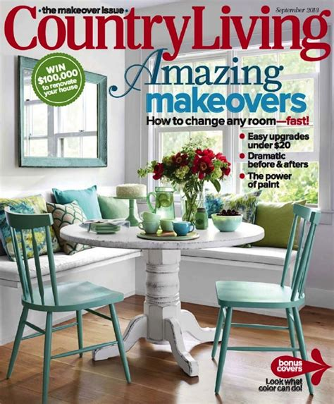 country kitchen magazine our 48 table on cover of country living magazine 2841