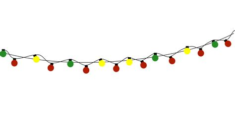 free vector graphic bulb string lights