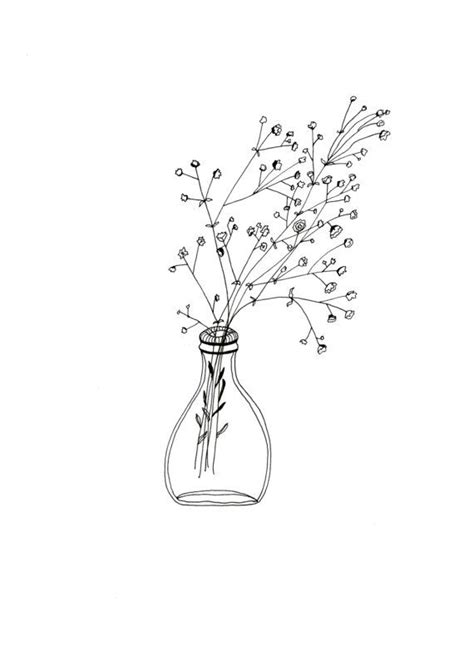 white flower print simple print simple flower art