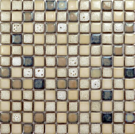 Tandus Flooring Pebble Mesh by Mesh Backing Porcelain Mosaic Tiles Era Glazed