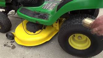 deere la120 mower deck adjustment