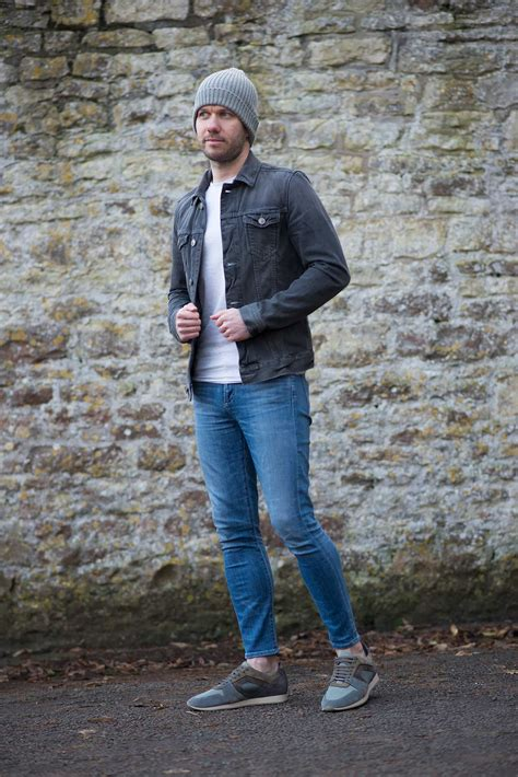 Allsaints Grey Denim Jacket And Womenu0026#39;s Skinny Jeans Outfit | Your Average Guy