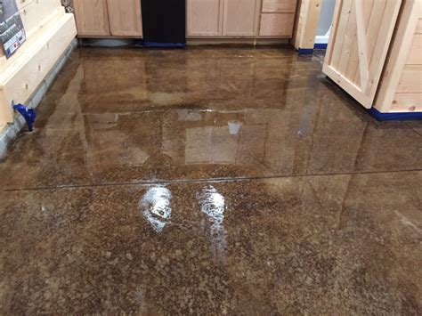 Acid Staining Our Concrete Floors   An Expensive Look At