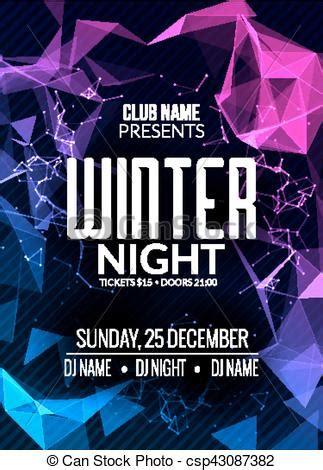 dance party dj battle poster design winter disco party
