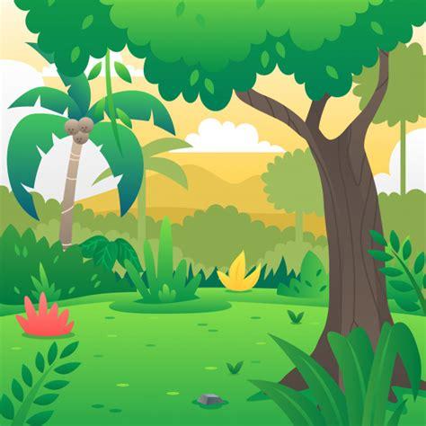 foto de Fundo de floresta dos desenhos animados Vetor Premium