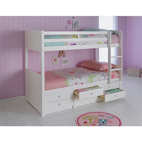 bunk beds with mattress included buy home leigh detachable single bunk bed frame white at