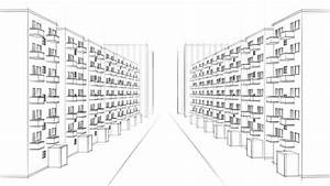 Architecture Drawing Of A City With Apartment Buildings ...