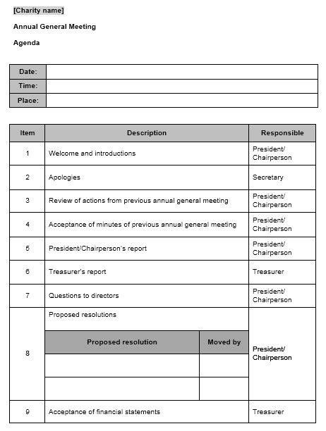 sample seminar agenda templates printable samples
