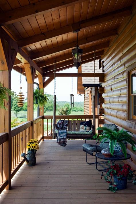 Wooden Porch Ideas by The Wooden House Covered Porch Decorating Ideas And