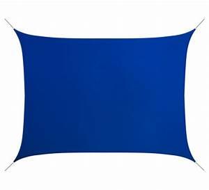Voile D Ombrage Rectangulaire : voile d 39 ombrage rectangulaire 6x4 m bleu roi 180g m2 76 ~ Dailycaller-alerts.com Idées de Décoration