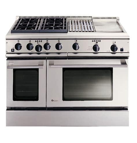 ge monogram  professional range   burners grill  griddle natural gas