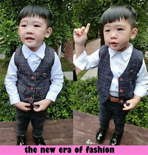 baju setelan kemeja rompi anak laki laki jaman sekarang ryn fashion