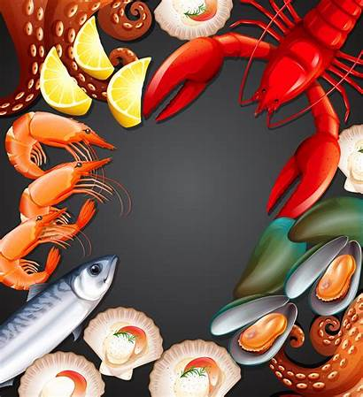 Seafood Banner Fresh Vector Clipart Graphics Vectors