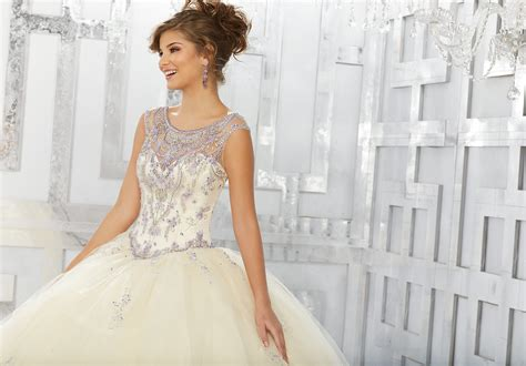 Jewel Beaded Bodice And Skirt Appliqués On A Tulle Ball