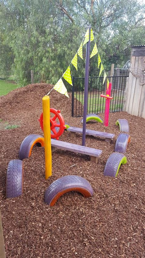 easy ideas for reusing tyres in outdoor play areas and 776 | balance11 karen thomson