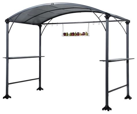 abba patio 9 x5 outdoor backyard bbq grill gazebo with