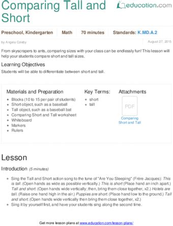 preschool math lesson plan preschool lesson plans education 371