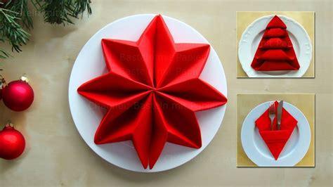 Weihnachtsbaum Aus Servietten Falten by Servietten Falten Weihnachten Ideen Zum Tischdeko