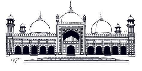 badshahi masjid  azazkhan  deviantart