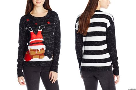 Tacky Christmas Sweaters Upside Down Snowman