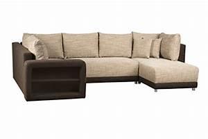 Couch Mit Bettfunktion Und Bettkasten : sofa u form wohnlandschaft mit bettfunktion und bettkasten ottomane rechts oder links ~ Indierocktalk.com Haus und Dekorationen