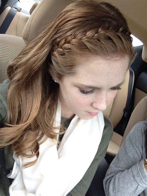 headband braid  loose curls hair   loose