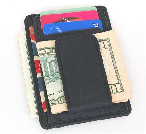 4 in x 3 in money clip can secure your money bills credit card slots (4) and id window (1) side open opcket about us payment please verify your address during checkout. Mens Leather Wallet Money Clip Credit Card ID Holder Front Pocket Thin Slim NEW | eBay
