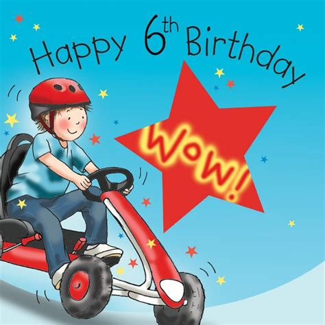 age  birthday card  boys  cart tw