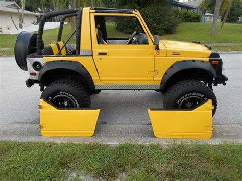 purchase used 1988 suzuki samurai 4x4 lifted on 33 s spoa in port richey florida united states