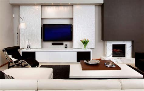 modern ways  seamlessly hide  living room tv
