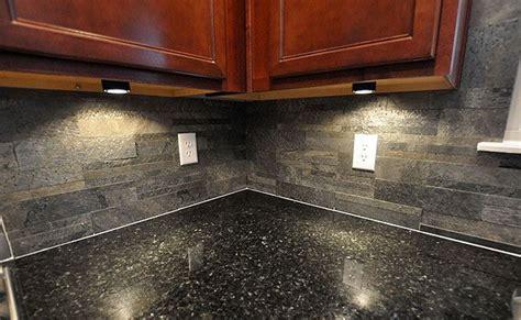 slate kitchen backsplash black countertop slate brick backsplash for the home