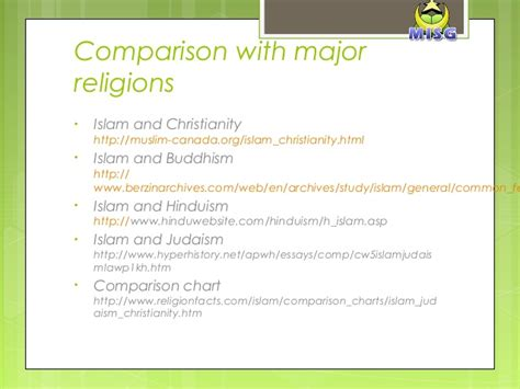 Christianity Islam Comparison Essay by Respect Between Races Religions