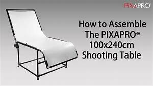 Assembly Instructions For Pixapro 100x240cm Shooting Table