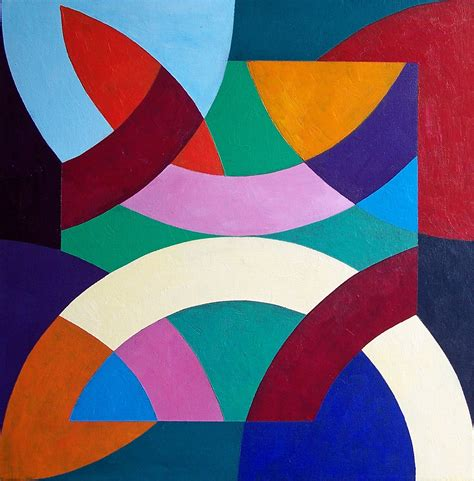 Abstract Geometric Shapes In abstract of geometric shapes painting by stephen conroy