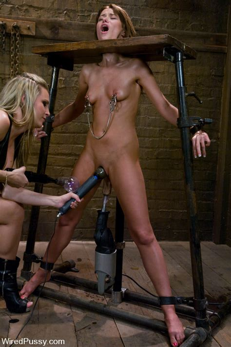 Harmony Rose Punishes Silky Smooth Sexy Pussy Of Slave