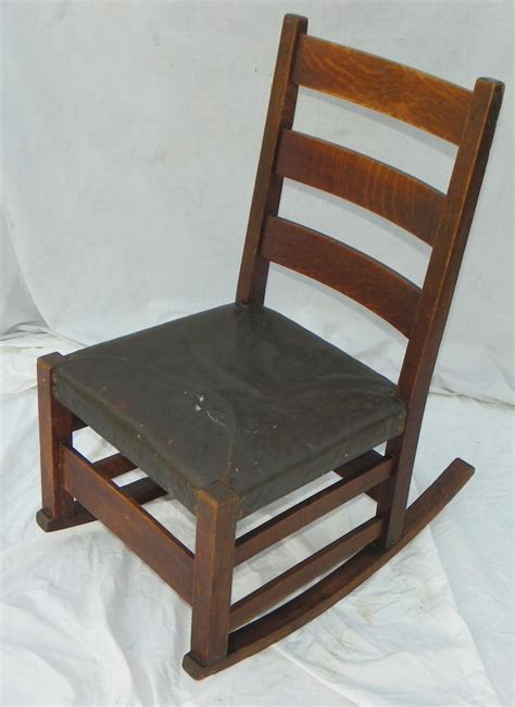 Stickley Oak Rocking Chair by Antique Mission Oak Rocking Chair Gustav Stickley Rocker