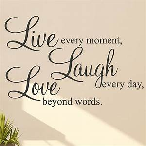 live laugh love words wall art sticker With live love laugh wall art