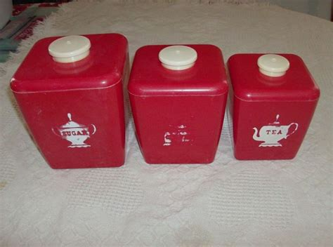 canisters sets for the kitchen vintage white plastic canister set by burrough mfg