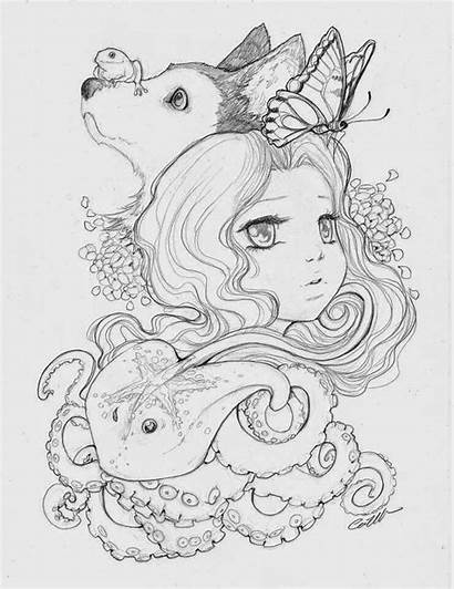 Coloring Manga Mariah Camilla Camilladerrico Drawing Symphony