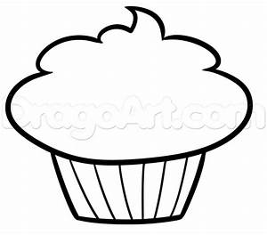 Draw a Cupcake For Kids, Step by Step, Drawing Sheets ...