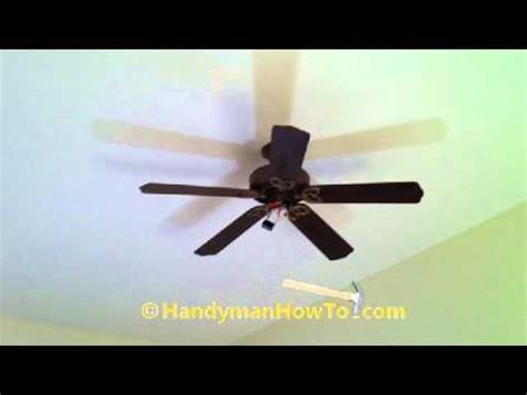 ceiling fan motor capacitor replacement youtube